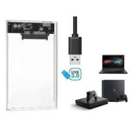 Case USB 3.0 Sata HD Notebook 2.5 Bolso Externa Ps4 Xbox