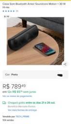 Caixa de Som Bluetooth Anker Motion Plus Hi-Res