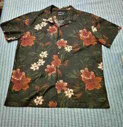 Camisa Floral preta Riachuelo - tamanho G