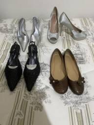 Lote 4 sapatos 36 novos