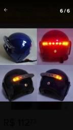 Sinalizador de capacete com setas e stop via Bluetooth a d'água