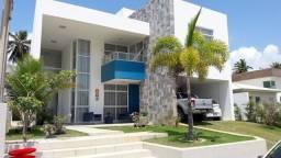 Mobiliada, piscina, casa 355m², 4 quartos, área lazer, Pier para lagoa, cond Ilha da Lagoa