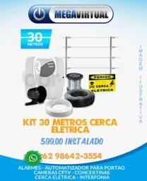 Kit Cerca Eletrica 30 Metros - Instalada