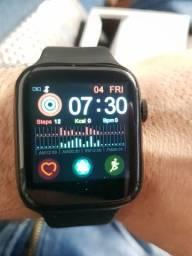 X7 smartwatch faz ligação troca pulseira como Apple watch