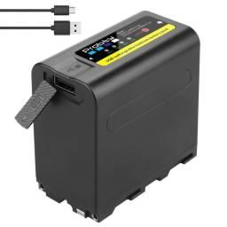 Bateria Np-F980 F970 8800mah F960 Digital Para Iluminadores de Leds
