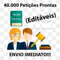 Banco Petições Jurídicas - Kit Com 40.000 Modelos