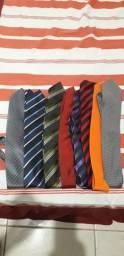 8 Gravatas pouco usadas seminovas