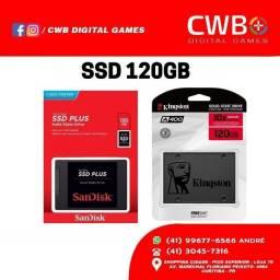 SSD 120GB SanDisk. Novo lacrado e com garantia. Loja Física