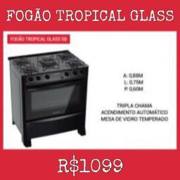 Fogão 5Bcs Tropical Glass