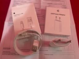 Cabo e carregador Apple original. Garantia, novo e NF.