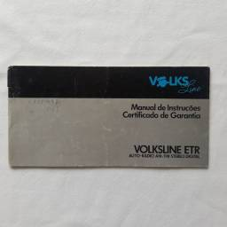Manual Original do Rádio Volksline ETR