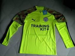 Agasalho de treino Manchester City verde limão