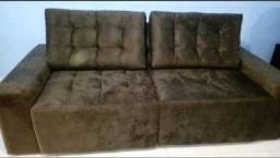 Título do anúncio: Sofá em tecido SUED modelo Érika retrátil e reclinável - NOVO