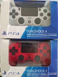 Controle PS4 vermelho ou branco Sony sem fio