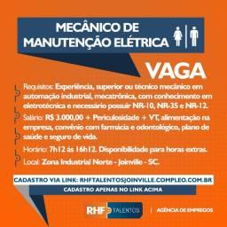 Auxiliar de Consertos e Mecânico de Manutenção Elétrica