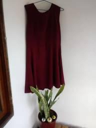 Vestido rodado vinho tam m/38