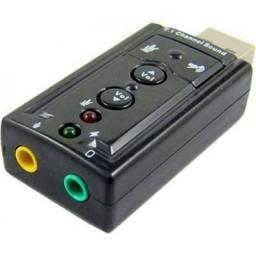 Adaptador USB Áudio e Fone