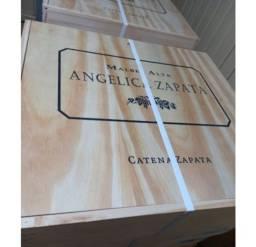 Caixa Madeira Angelica Zapata Malbec Argentino 750ml 4 Unid. safra 2016