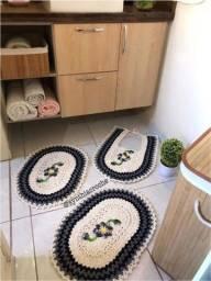 Jogos de banheiro 3 peças em crochê
