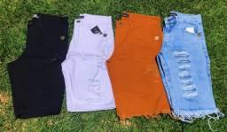 Bermudas jeans e camufladas