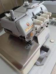 Overlock Interlock SINGER semi novo. Máquina costura industrial