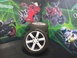 Roda aro 22' 6 furos pneu meia vida