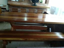 Mesas para churrasqueiras com bancos