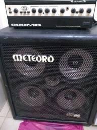 Amplificador para contrabaixo Meteoro 800MB + caixa 410