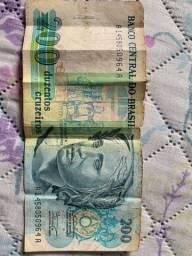 Cédula 200 Cruzeiros para colecionadores