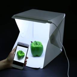 Mini Estúdio  Portátil <br>Com Luz de Led