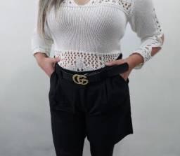 Título do anúncio: Shorts Linho Preto/bege G e GG Na Etiqueta