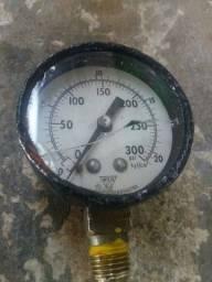 Manômetro vertical 1/4 50mm 0-20bar até300psi