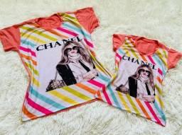 Kit de blusas tal mãe tal filha