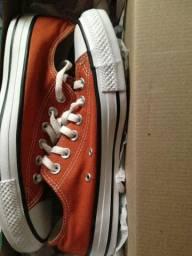 Tênis all star converse laranja número 36,novo na caixa