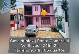 Ampla casa duplex / ponto comercial av. Silves 06 quartos