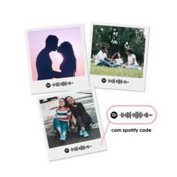 Fotos polaroid com Spotify code