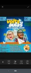 Ótica Gospel Vision Promoção volta as aulas.