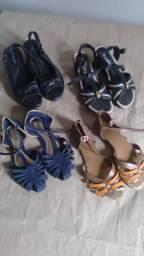 Sapatos Femininos Diversos Modelos. Tamanho: Nº 37