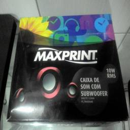 Caixa De Som Com Subwoofer 10w Rms Maxprint 609319