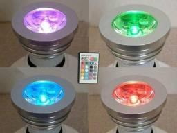 Kit 4 Lampadas Led 3w Rgb