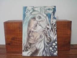 Lindo quadro pintado a mão