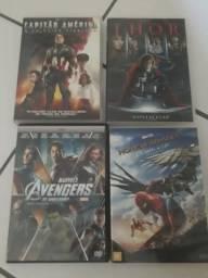 DVDs Capitão América + Thor + Vingadores + Homem Aranha