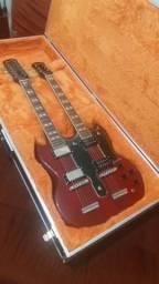 Guitarra EpiPhone Double Neck Com Case