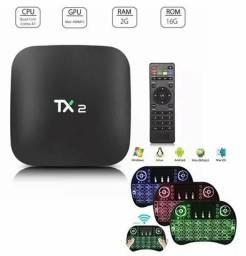 Tv Box Tx2 4k 2gb Ram 16gb Wifi Bluetooth + Teclado Led