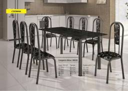 Mesa 4 cadeiras com tampo de Granito 180/03 - A Pronta Entrega