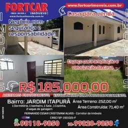 Casa Térrea no Jardim Itapura 1 Dormitório Oportunidade r$ 185 mil reais Terreno 252 m2