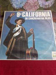Vinil da 9 Califórnia da Canção Nativa do RS 1979