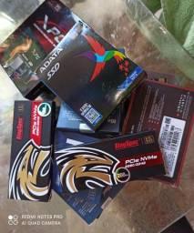 Vários modelos de SSD, M2 Adata Xpg - 256Gb,Asgard Ssd M2 Nvme -256gb,Memoria 4gb Smart