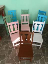 Cadeiras Infantil de Madeira maciça