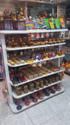 Gôndola de Madeira para exposição de mercadorias
